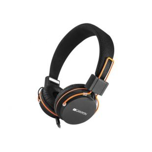 Canyon headphones, detachable cable with microphone, foldable, black, cable length 1.2m, 0.118kg