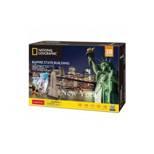 Cubic Fun 3D Puzzle National Geographic Empire State Building New York DS0977h