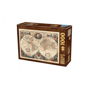 D-Toys Puzzle Antique World Map 1000 τεμ.