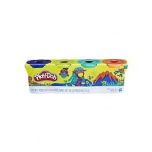Hasbro Play-Doh Wild Color Pack 4 Βαζάκια
