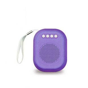 i-Total Ηχείο bluetooth Fm Radio Mini Cube Μωβ CM3230