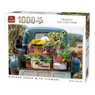 King Puzzle Vintage Truck With Flowers 1000 τεμ.