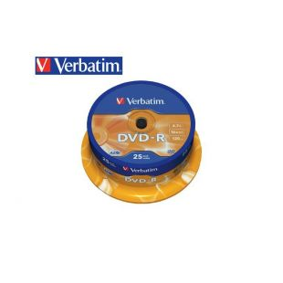 Verbatim DVD-R 4.7Gb 16x Cake Box 25τεμ.